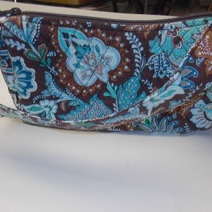 Vera Bradley Small Brown and Blue Patterned Bag